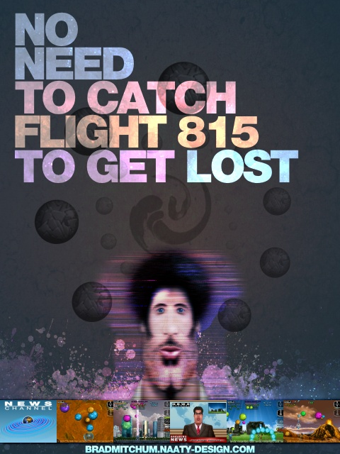 Flyer1 smartphone game Brad Mitchum - No need to catch flight 815 to get lost