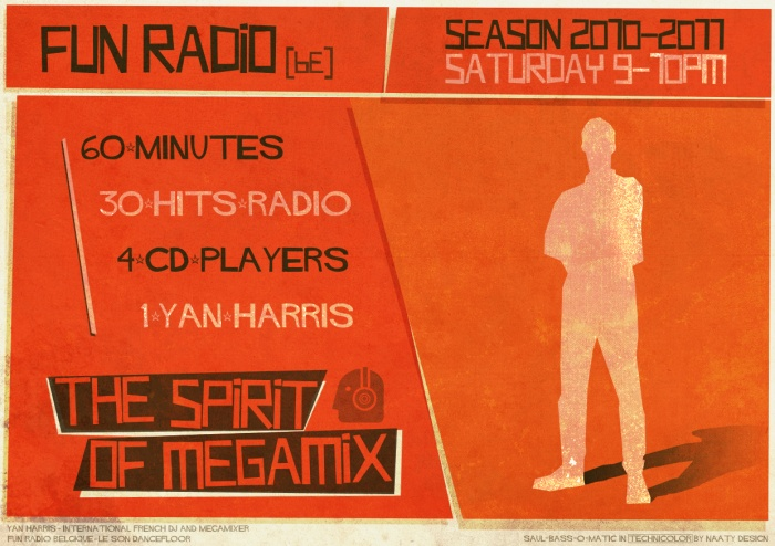 Flyer 2 - Yan Harris and Saul Bass inspiration