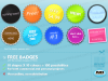 Royalty Free content pack - Free Badges stickers