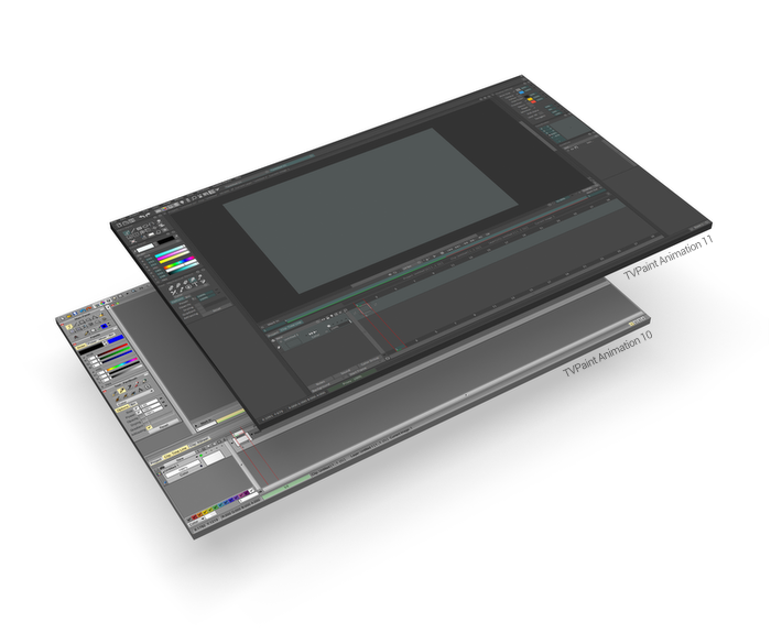 TVPaint Animation 11 interface