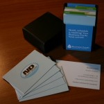 Naaty Design Moo Business Cards and card holder