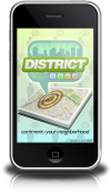 Social networking application District News for iPhone