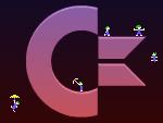 Logo Commodore couvert de Lemmings