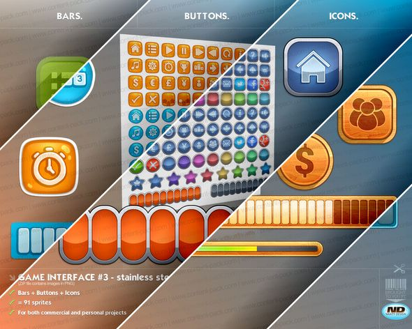 Royalty Free Content Pack - Game Interfaces Bundle